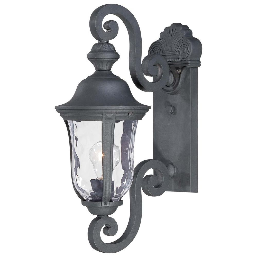 The Great Outdoors Minka Lavery Ardmore 1 Light Black Outdoor