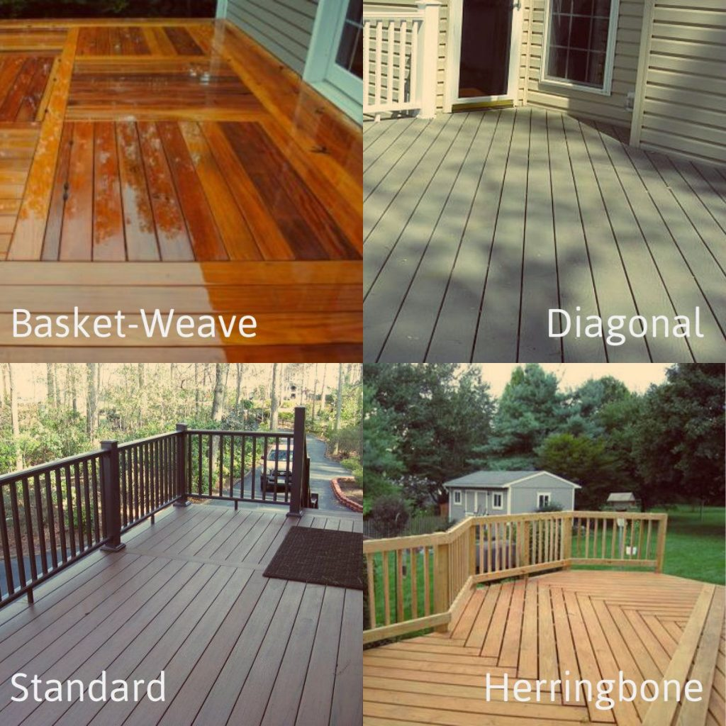 There Are All Types Of Decking Patterns To Choose From Basket Weave