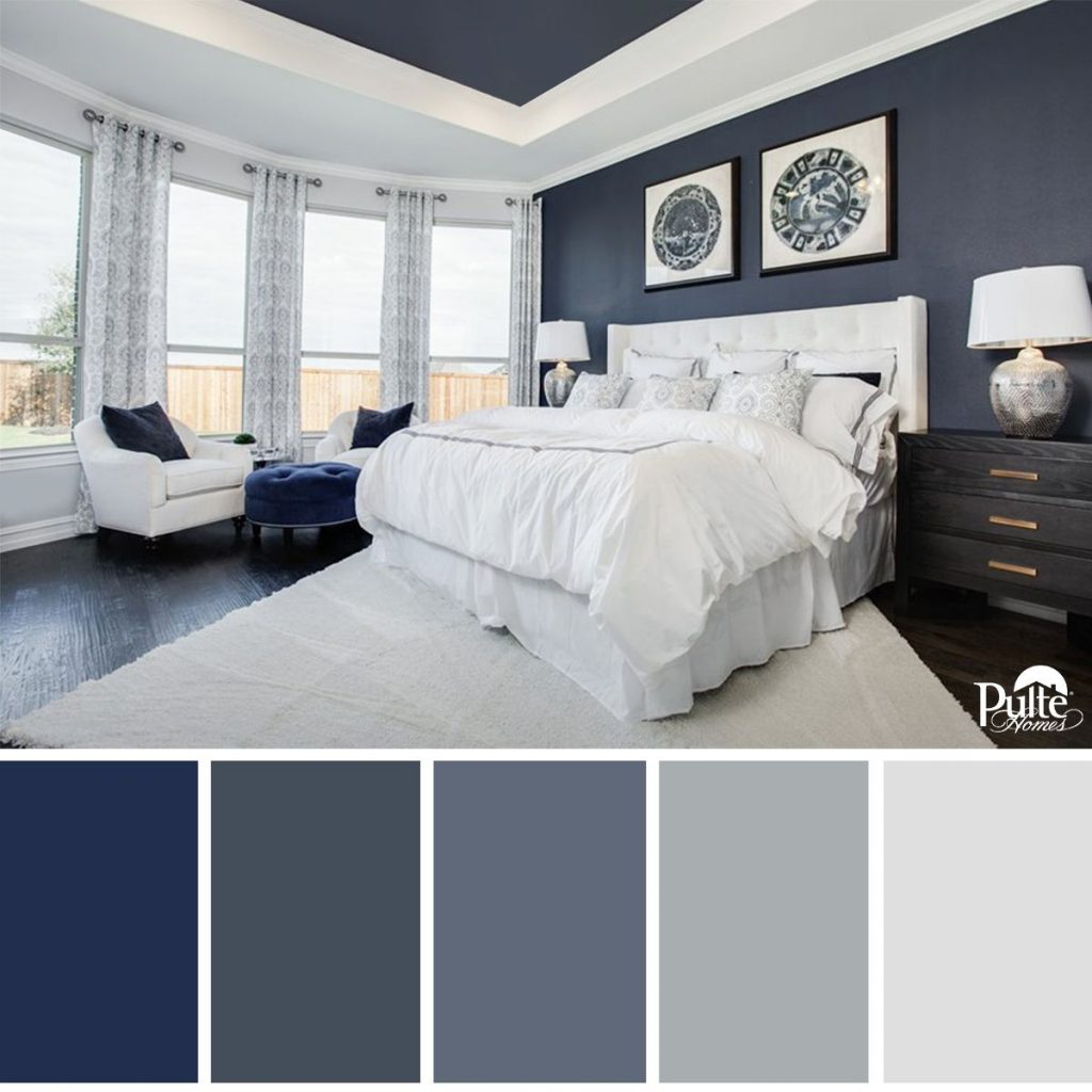 This Bedroom Design Has The Right Idea The Rich Blue Color Palette
