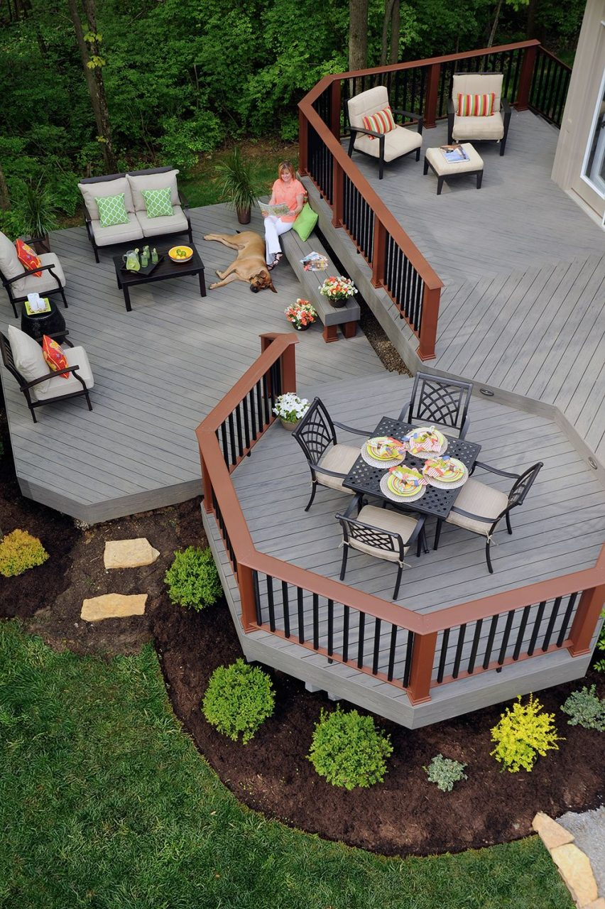 Timbertech Terrain Decking Collection In Silver Maple With
