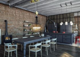 Industrial Kitchen Interior Design Ideas