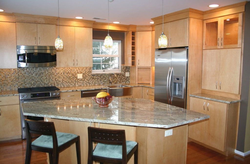 Top 40 Cool Maple Color Cabinets Kitchen Countertops Birch Metal