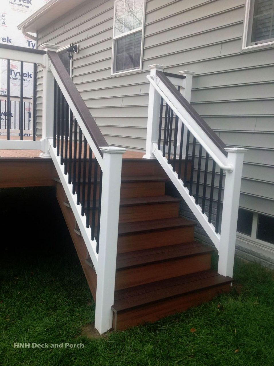 Trexcompany Transcend Composite Deck Steps Using Tiki Torch And