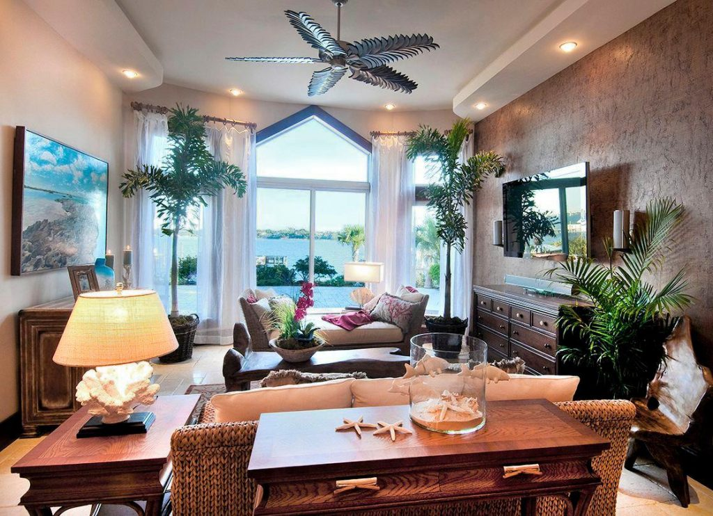 Tropical Themed Living Room Living Room