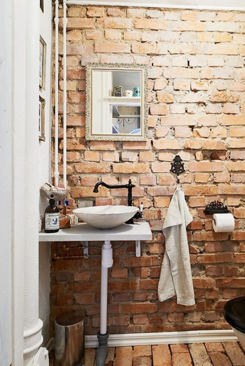 Unique Brick Wall Bathroom Ideas 220 Plot Brick Bathroom Home