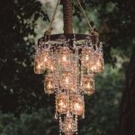 Outdoor Wedding Mason Jar Chandeliers