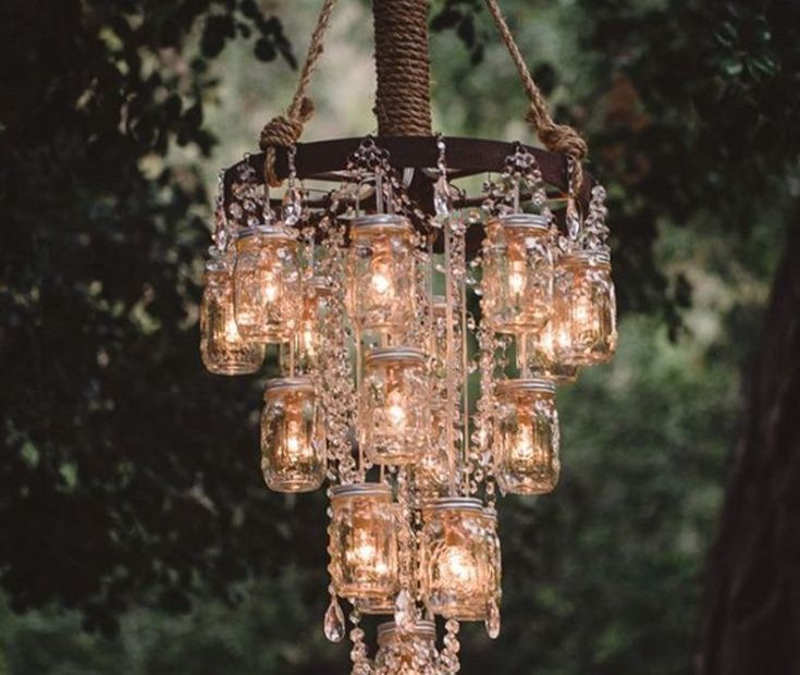 Unique Lighting Ideas For An Outdoor Wedding Crafts Chandelier