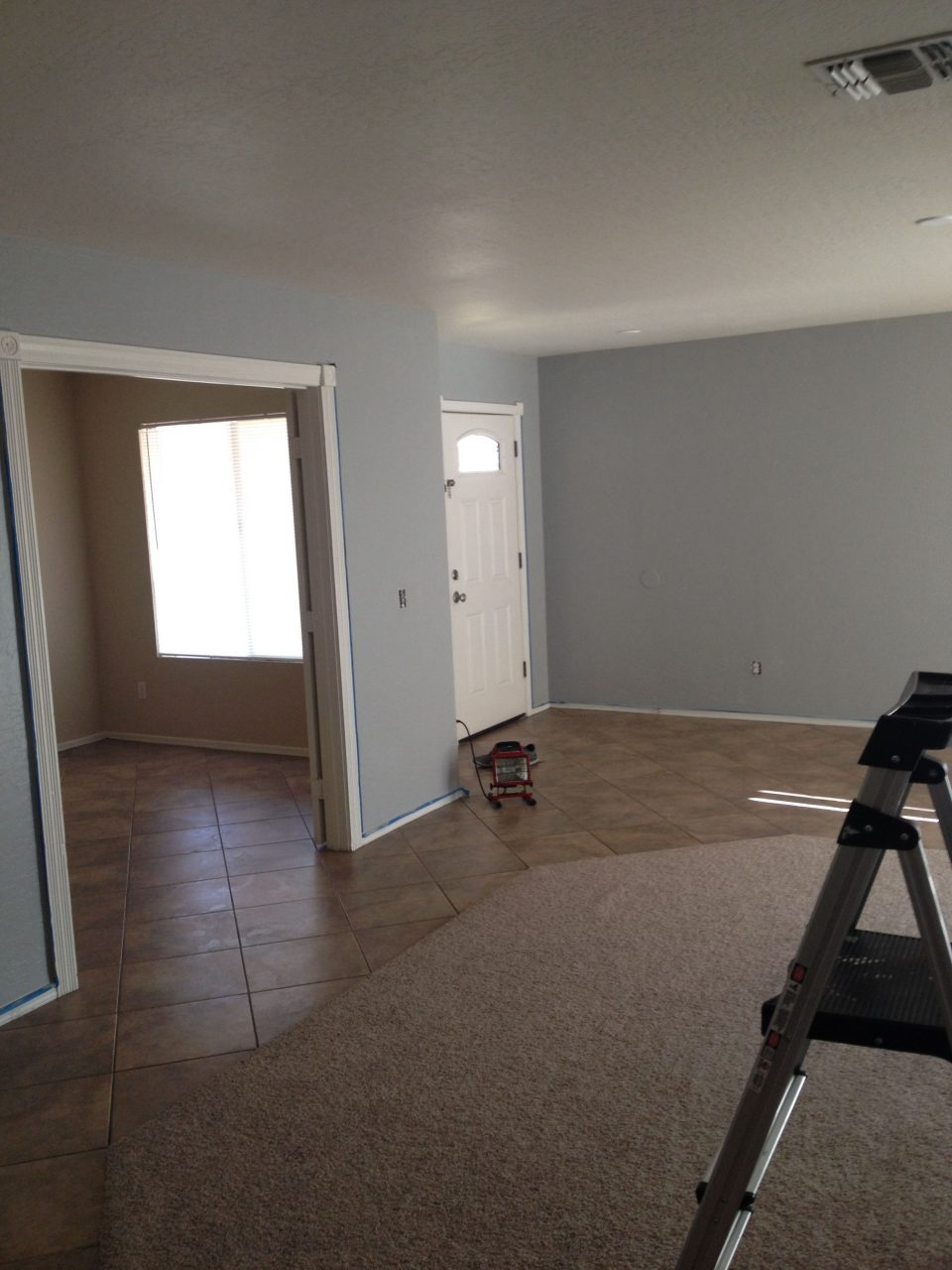 Valspar Urban Sunrise Blue Gray Paint Color In Living Room