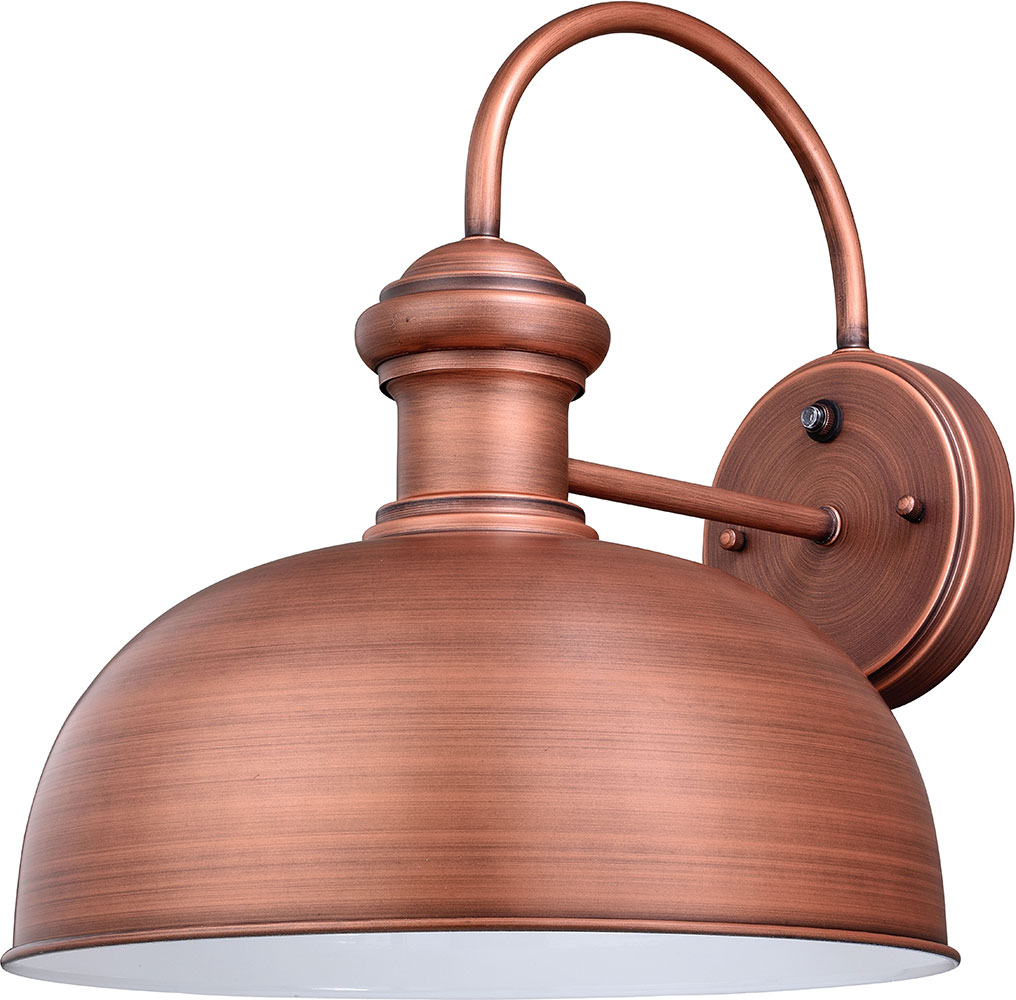 Vaxcel T0411 Franklin Contemporary Brushed Copper Outdoor Wall Lamp