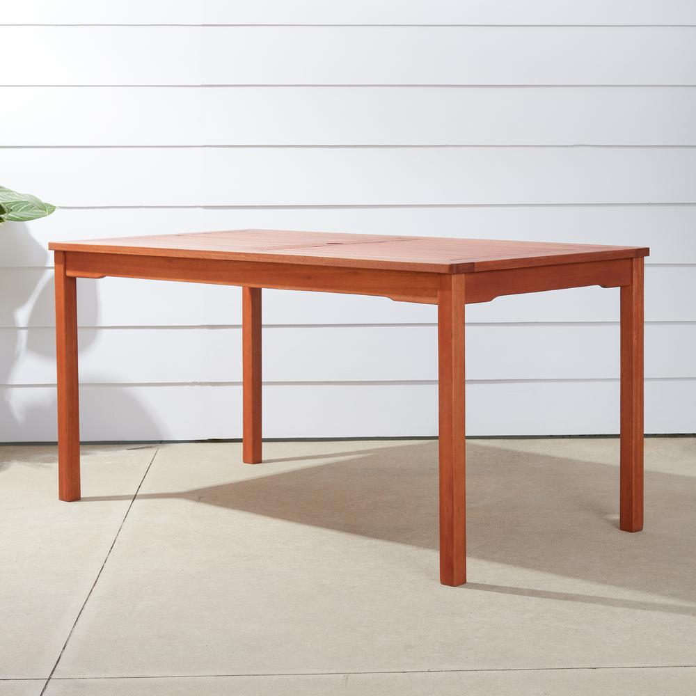Vifah Balthazar Eucalyptus 59 In X 32 In Patio Dining Table V98