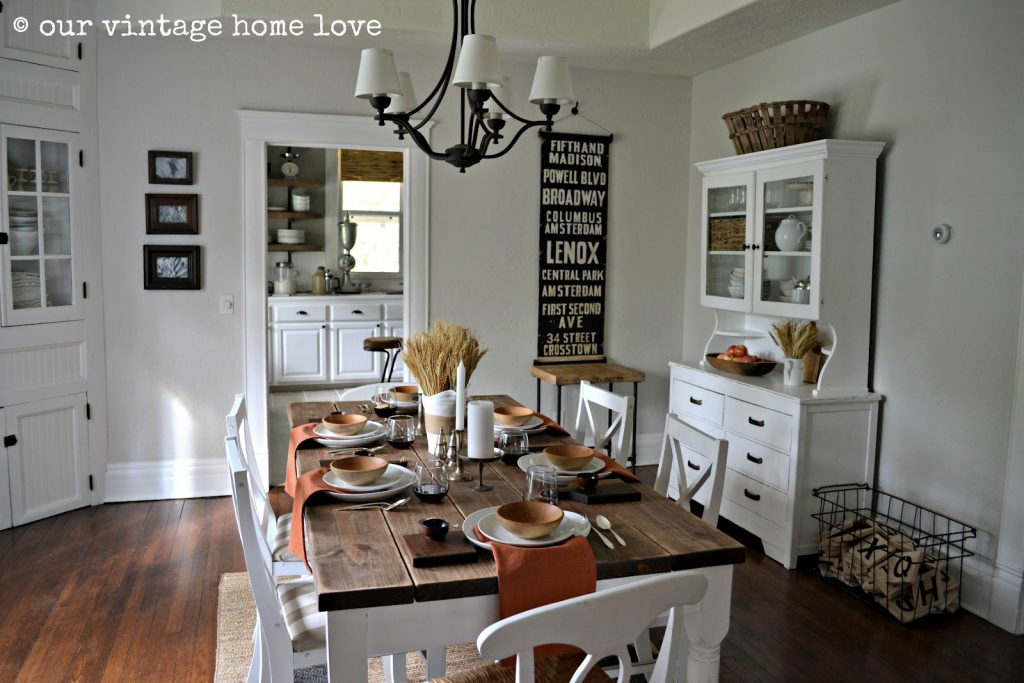 Vintage Home Love Autumn Table Decor And A Vintage Industrial Table