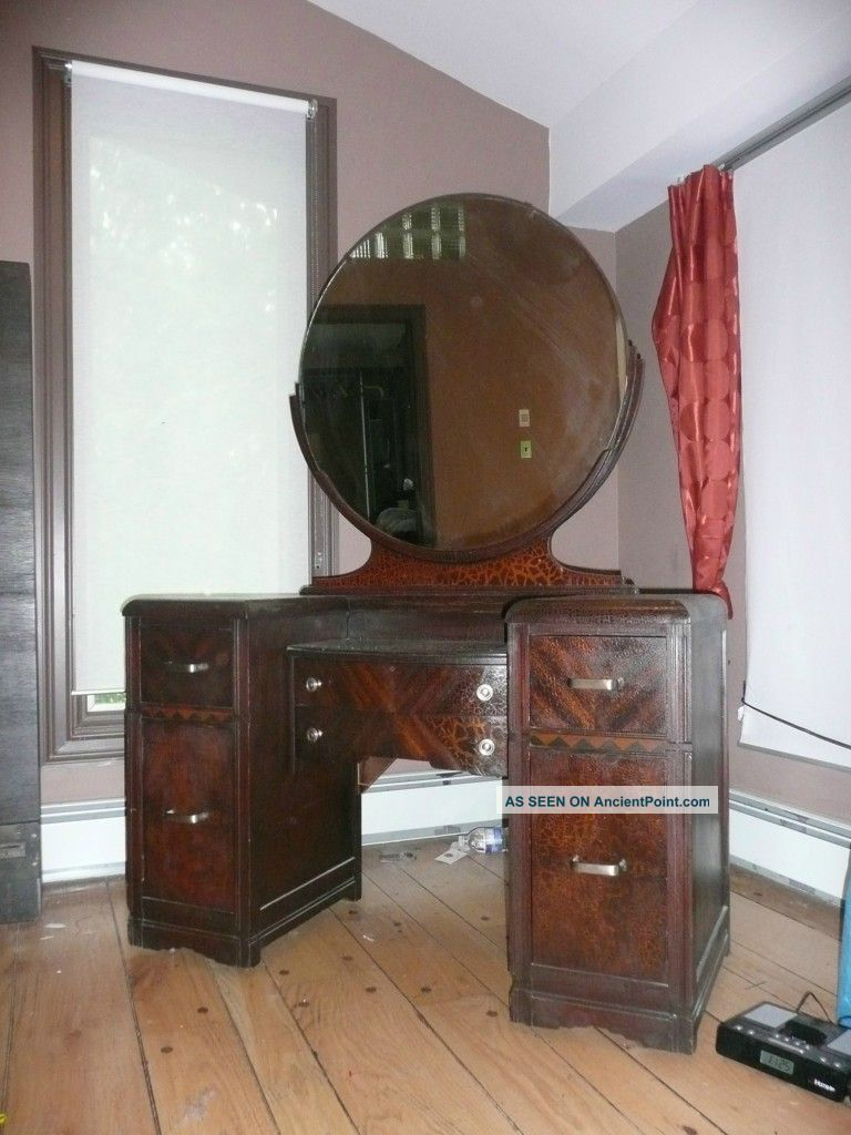 Vintage Vanity Dressing Table Old Hollywood Glamour 1900 1950