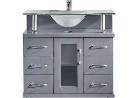 Glass Bathroom Vanities with Tops