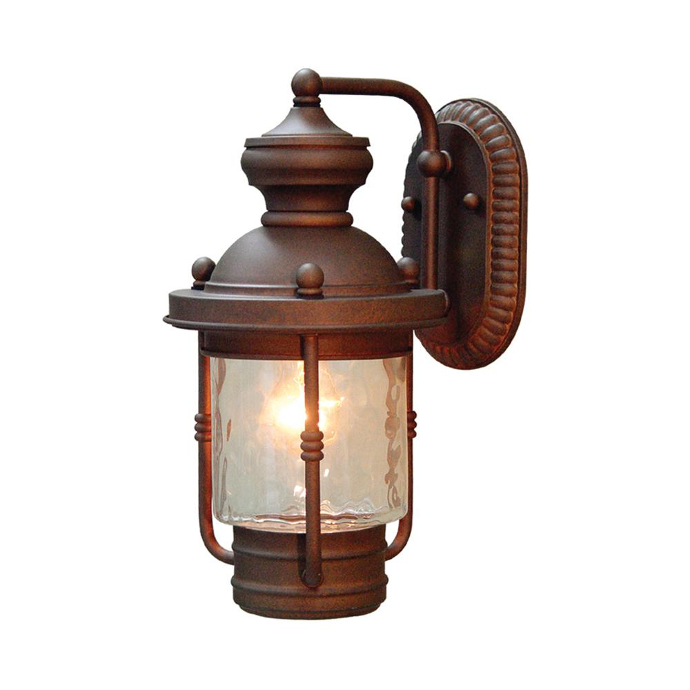 Volume Lighting 1 Light Burnished Bronze Outdoor Wall Mount Sconce