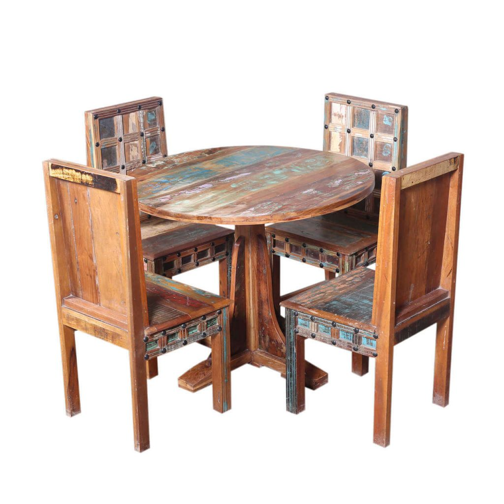 Walstonburg Reclaimed Wood Furniture Round Dining Table And