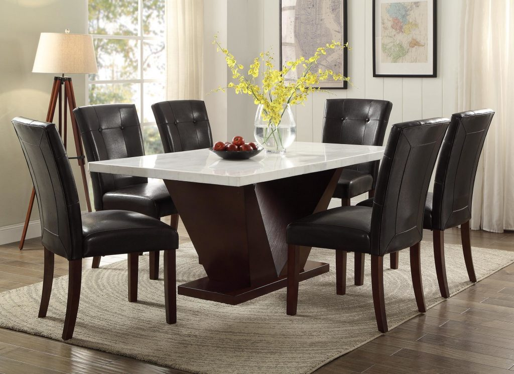 Wayfair World Menagerie Philbrook Marble Dining Table