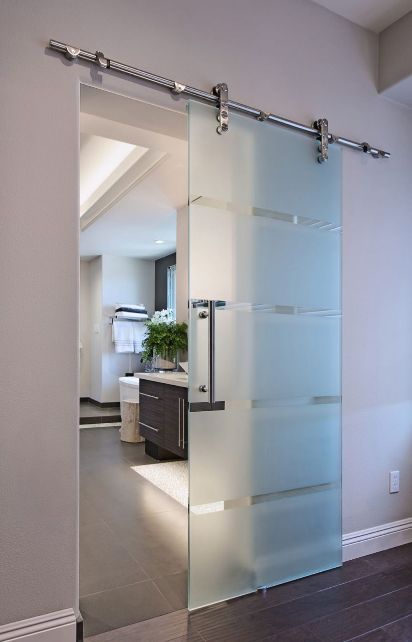 We Quite Like This Idea Of A Sliding Frosted Door To The Kitchen