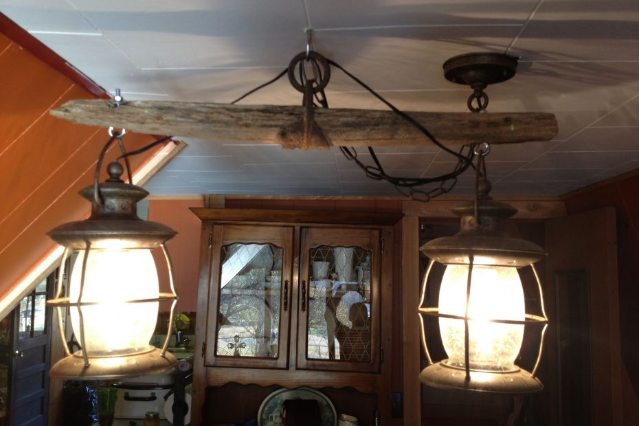 Western Decor Old Single Tree Light Fixture That My Hub Made Me