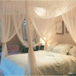 White 4 Corner Post Bed Canopy Mosquito Net Full Queen King Size
