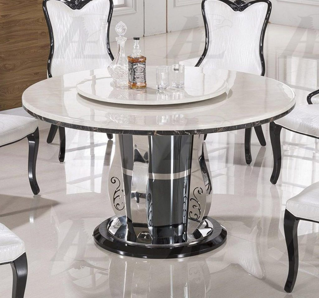 White Marble Top Round Dining Set Shop For Affordable Home