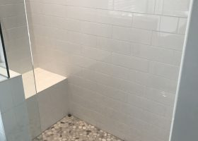 Shower Pebble Tile Bathroom Ideas