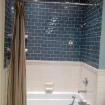 White Subway Tiles Glass Tiles On Top Bed And Baths Bathroom