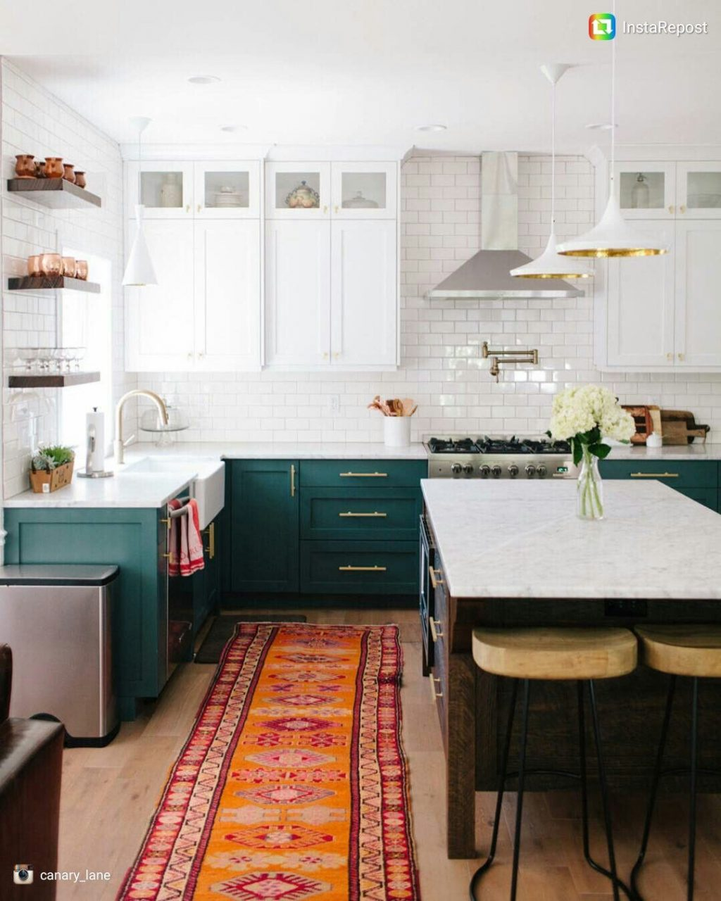 White Upper Cabinets Dark Teal Lower Cabinets Small Cabinets Near
