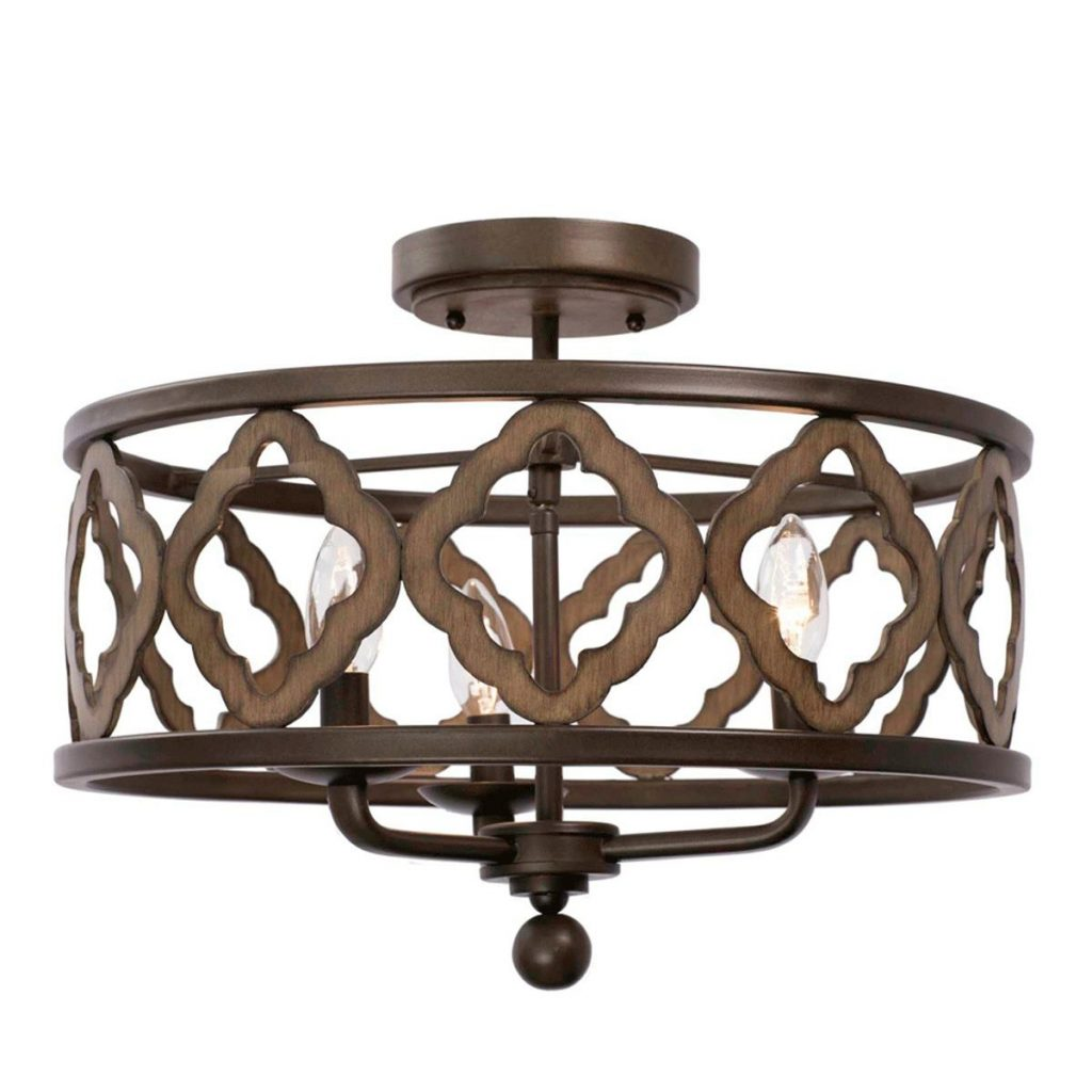 Whittaker 3 Light Semi Flush Fixture