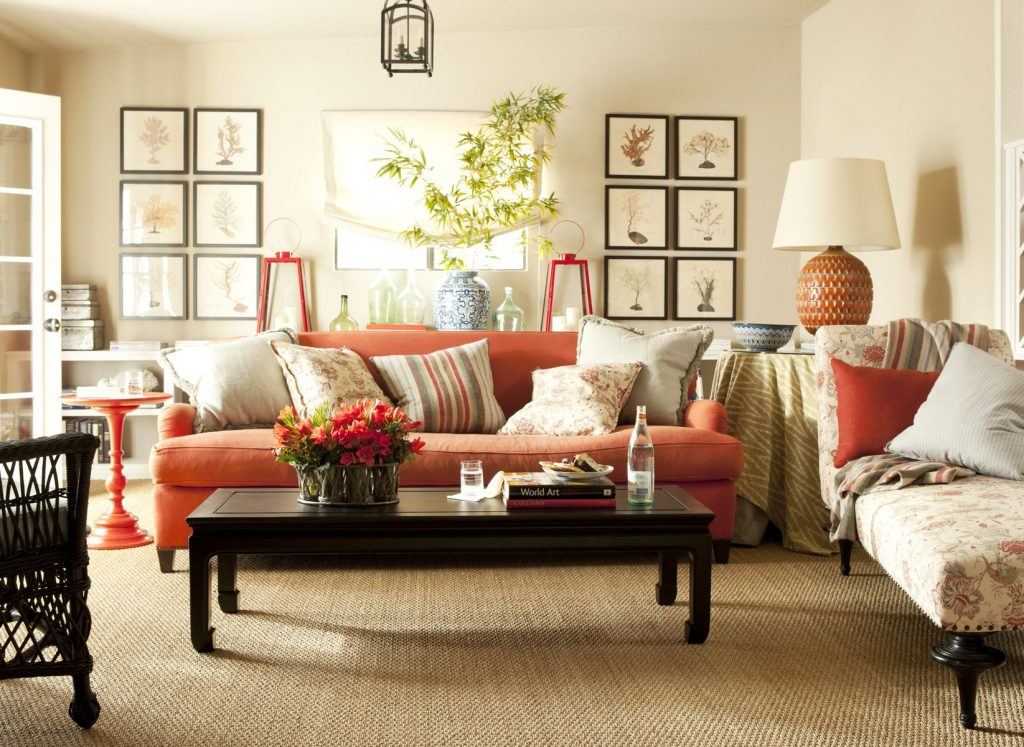 Winsome Inspiration Orange Living Room Set Creative Design Orange