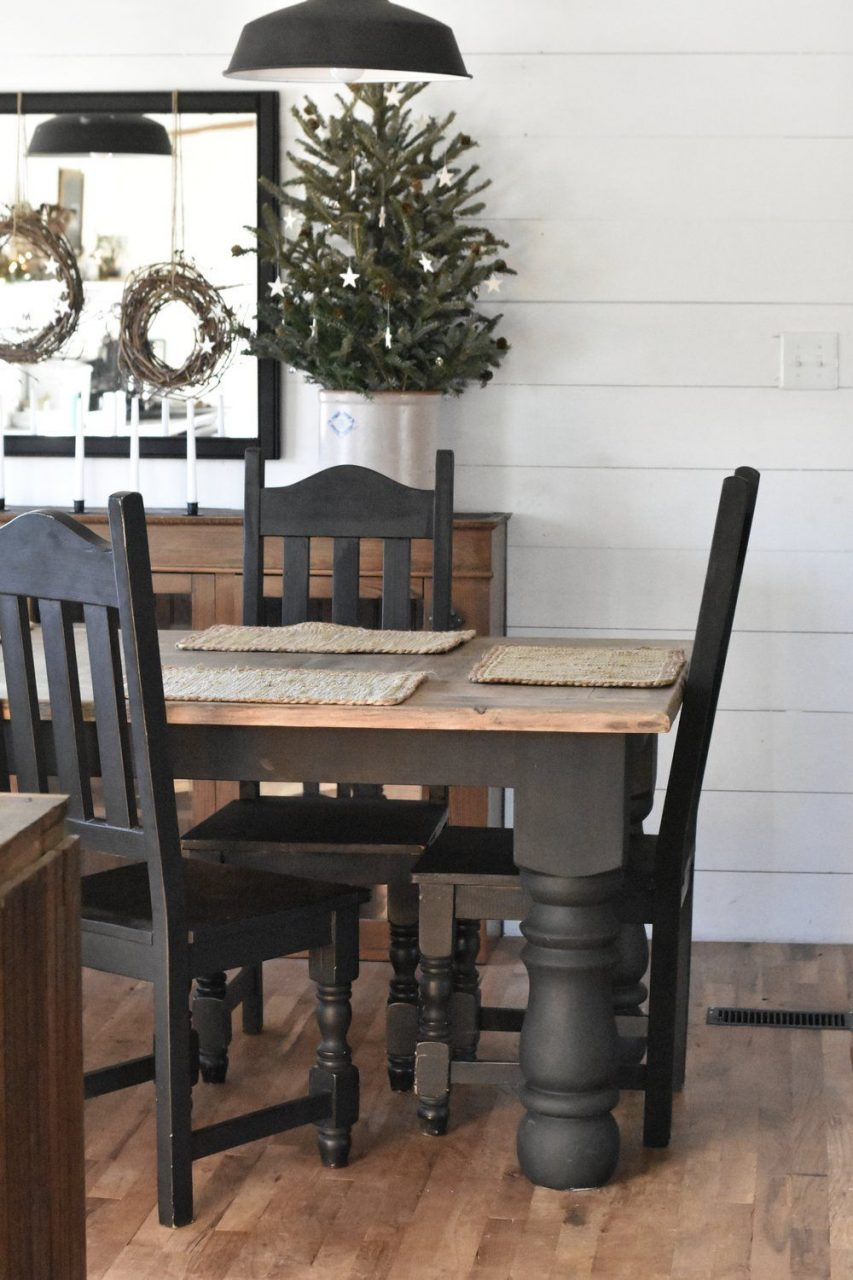 Winter I Farmhouse Christmas Kitchen And Dining Room Tour Black