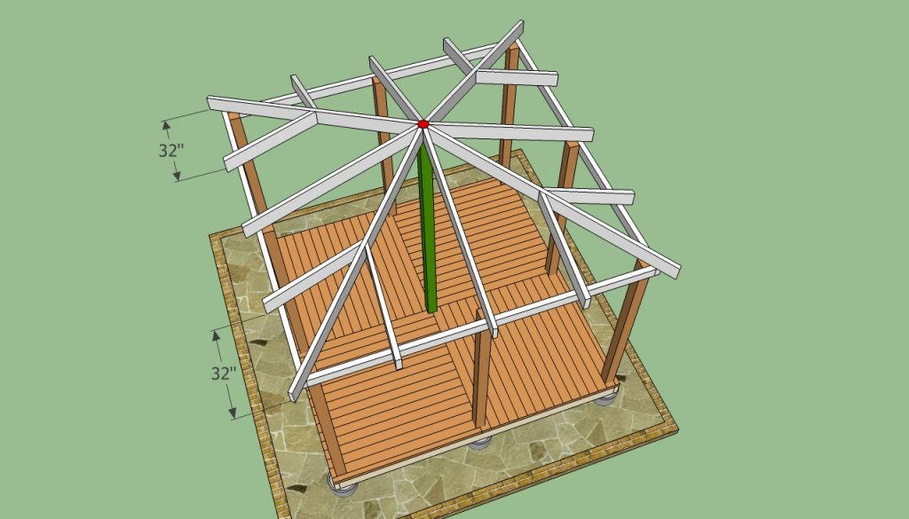 Wooden Gazebo Plans Howtospecialist How To Build Step Step