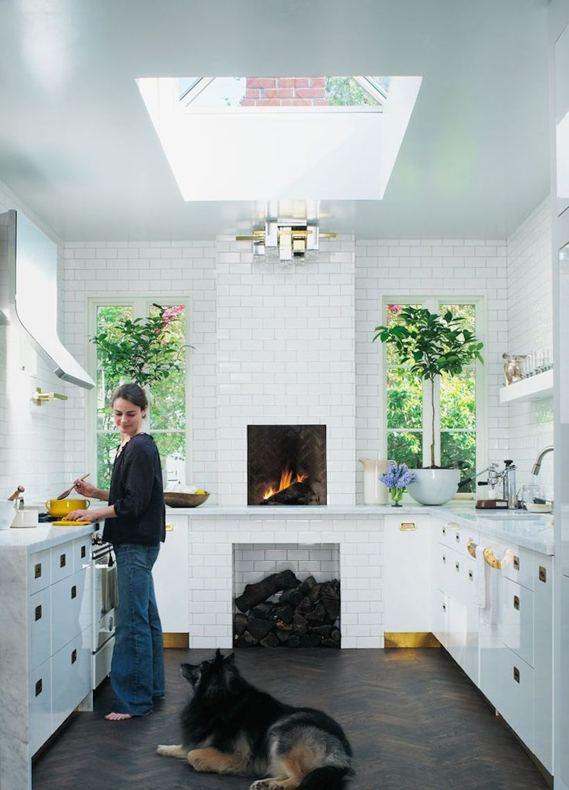 10 Best Fireplaces In The Kitchen Kitchens Without Upper