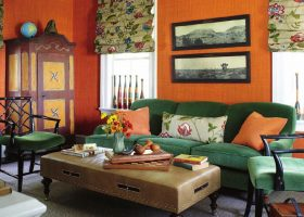 Orange and Green Living Room Ideas