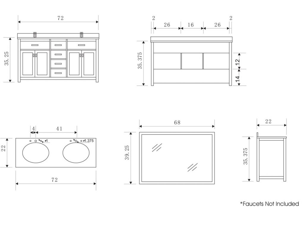 18 Dimensions Of Bathroom Sink Sink Dimensions Standard Sink Sizes