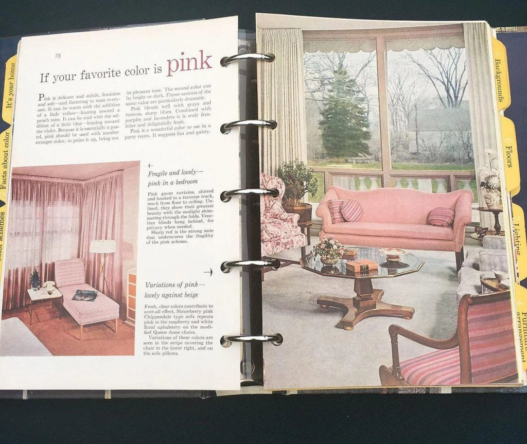 1961 Better Homes And Gardens Decorating Spiral Book Cheries