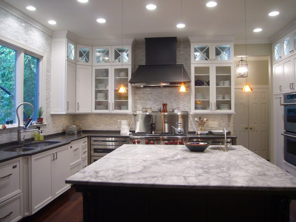 20 Awesome Design For White Kitchen Cabinets Gray Granite