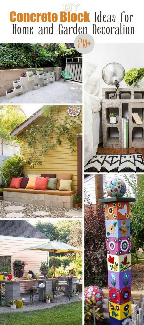 20 Diy Concrete Block Ideas For Home And Garden Decoration Noted List