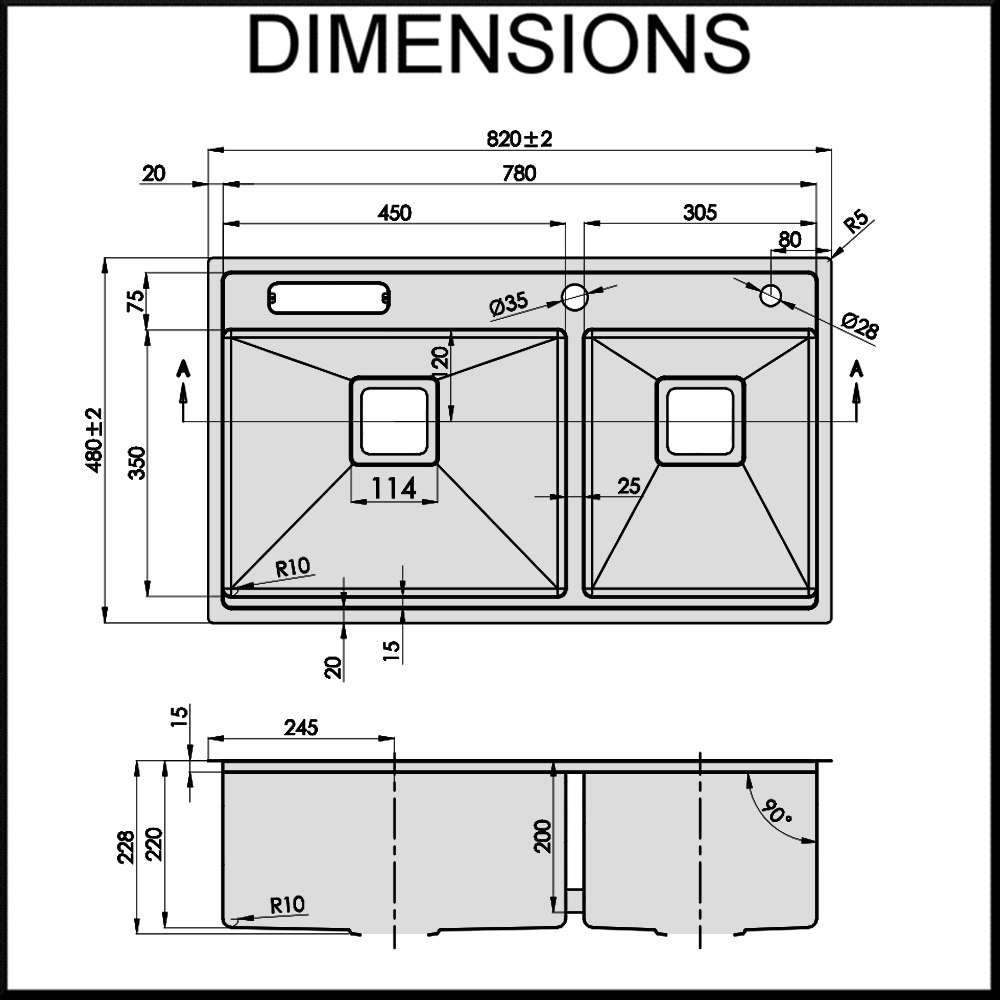 20 Lovely Design For Standard Kitchen Cabinet Dimensions Canada