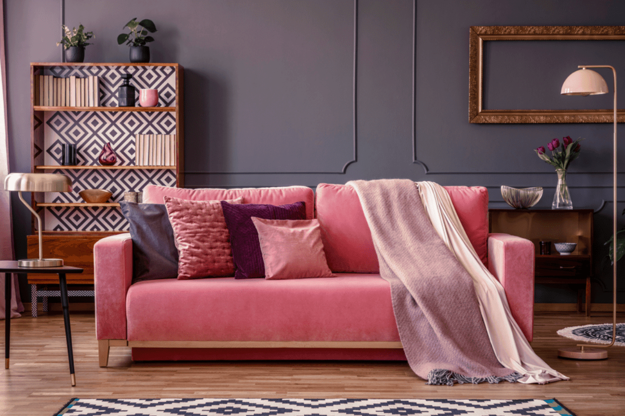 pink and brown living room ideas