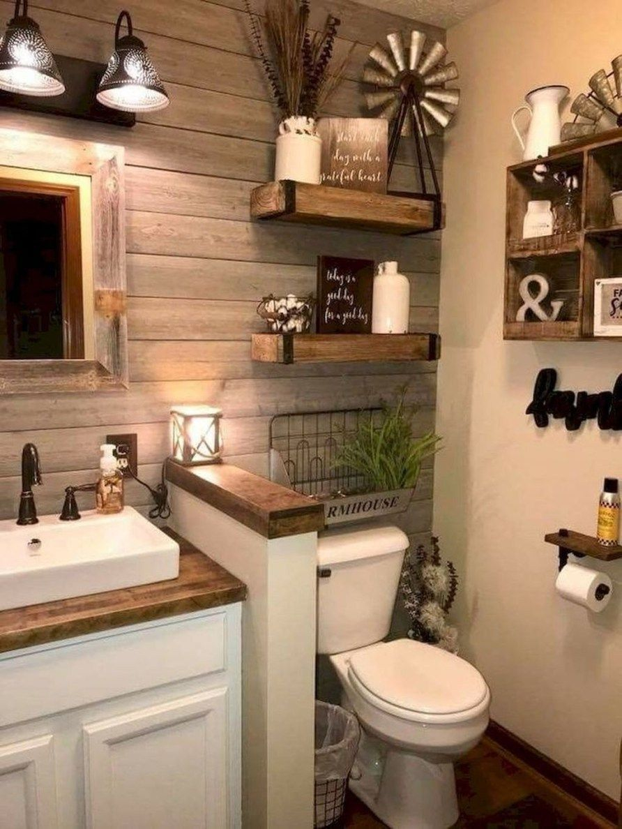 30 Stunning Modern Farmhouse Bathroom Decor Ideas Rustic Chic