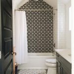 White Tile Bathroom Accent Wall Ideas