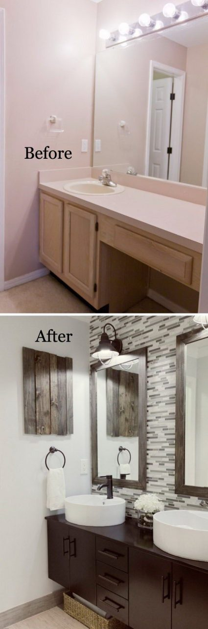 37 Small Bathroom Makeovers Before And After Pics Bath Diy