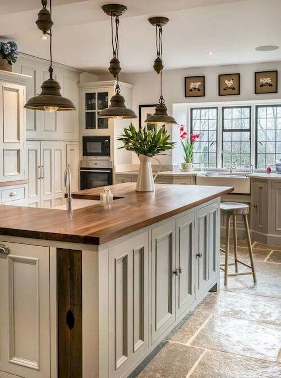 40 Rustic Modern Farmhouse Kitchen Design Ideas Gray Farmhouse