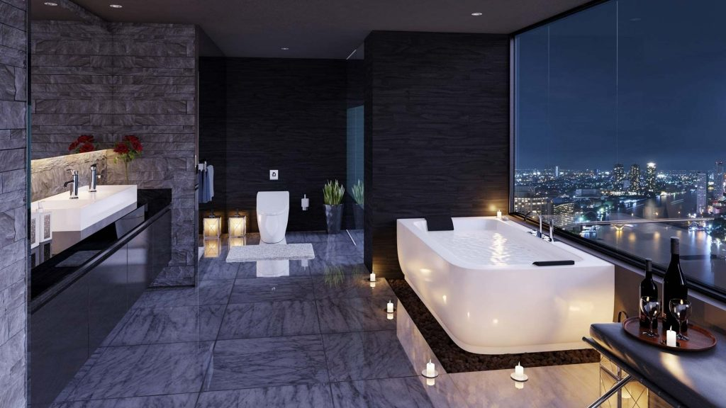 40 Stunning Luxury Bathrooms With Incredible Views Places To Live