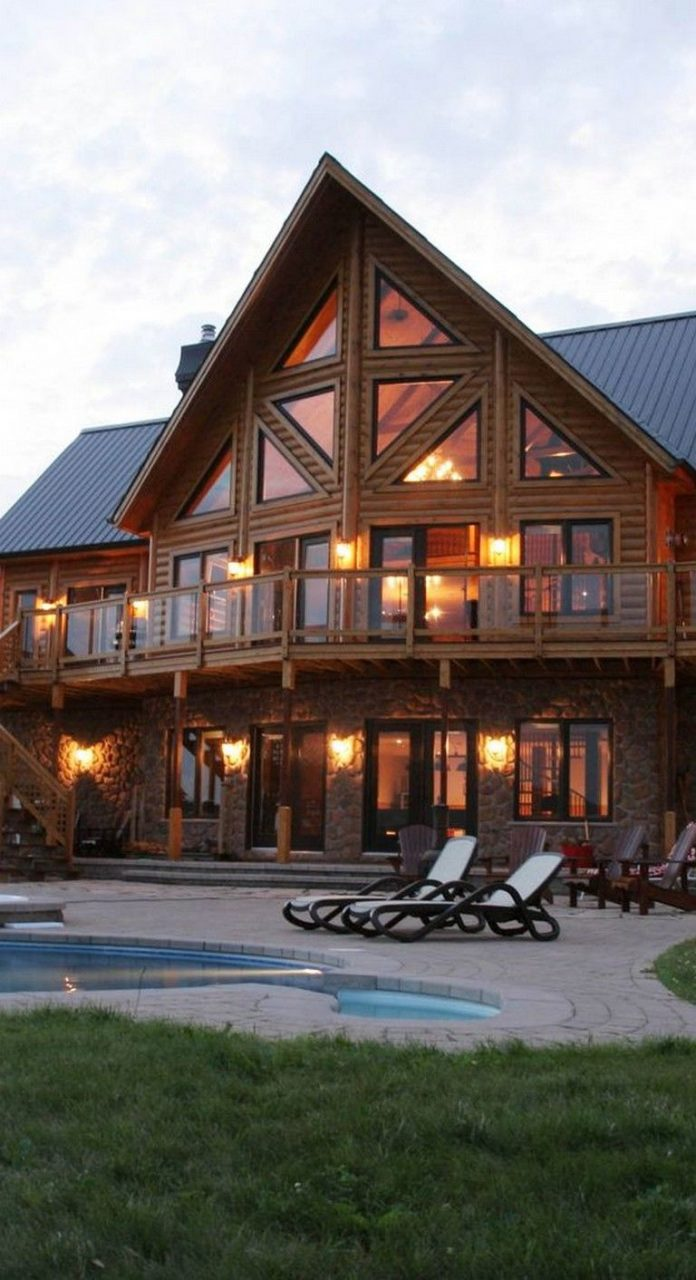 45 Inspiring Second Floor Deck Design Ideas Home Decor Log Homes