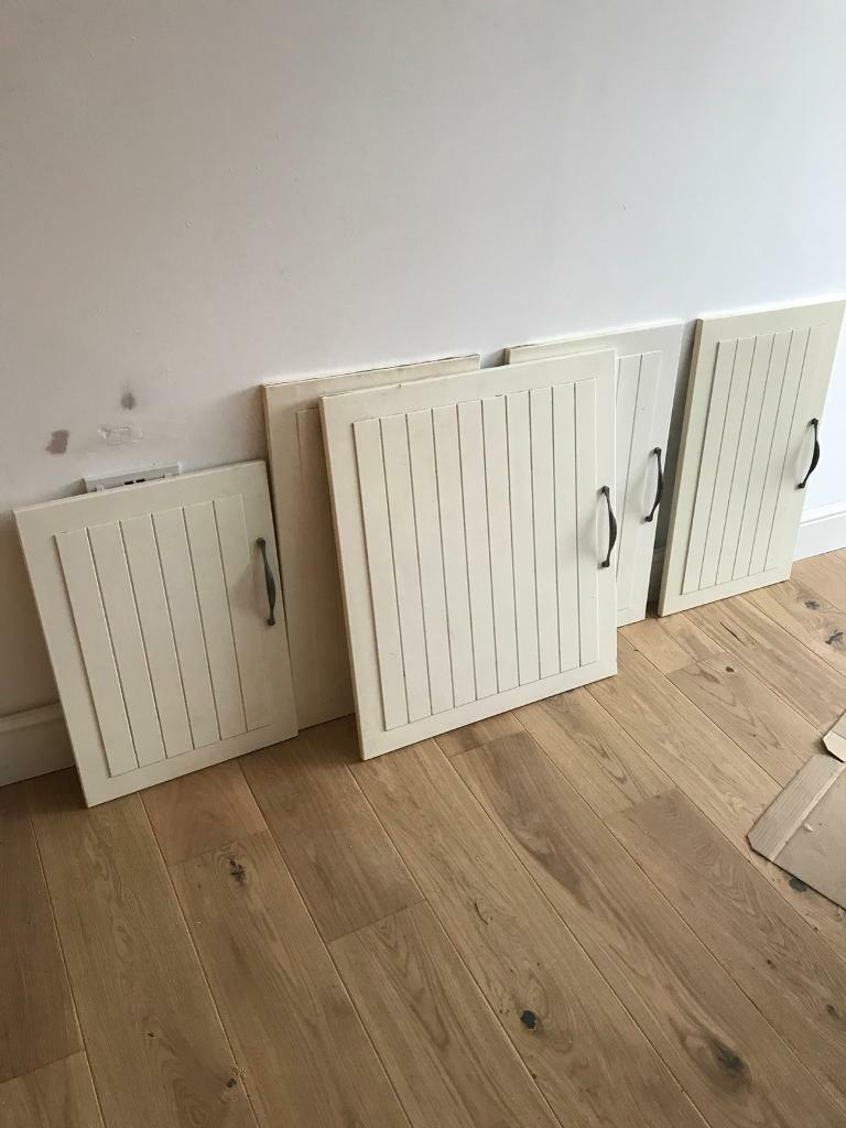 5 X Ikea Kitchen Cabinet Doors With Handles Cream Farmhouse Style In New Cross London Gumtree