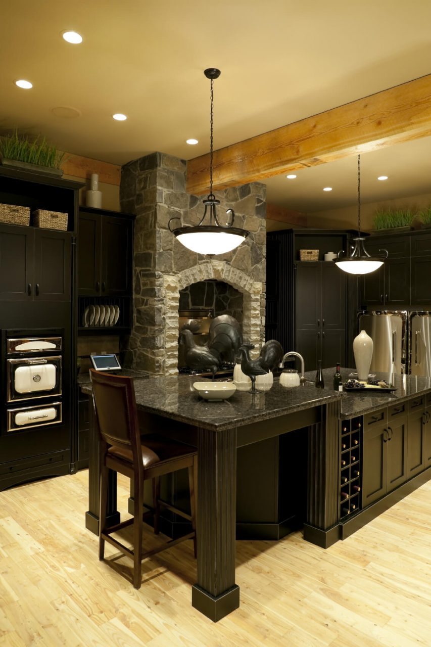 52 Dark Kitchens With Dark Wood Or Black Kitchen Cabinets 2019