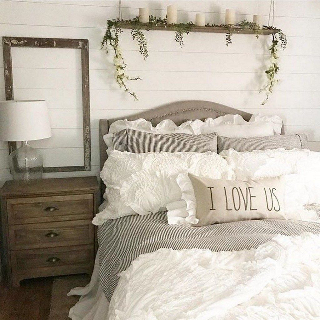 55 Awesome Master Bedroom Ideas Rustic Farmhouse Style Bedding Www