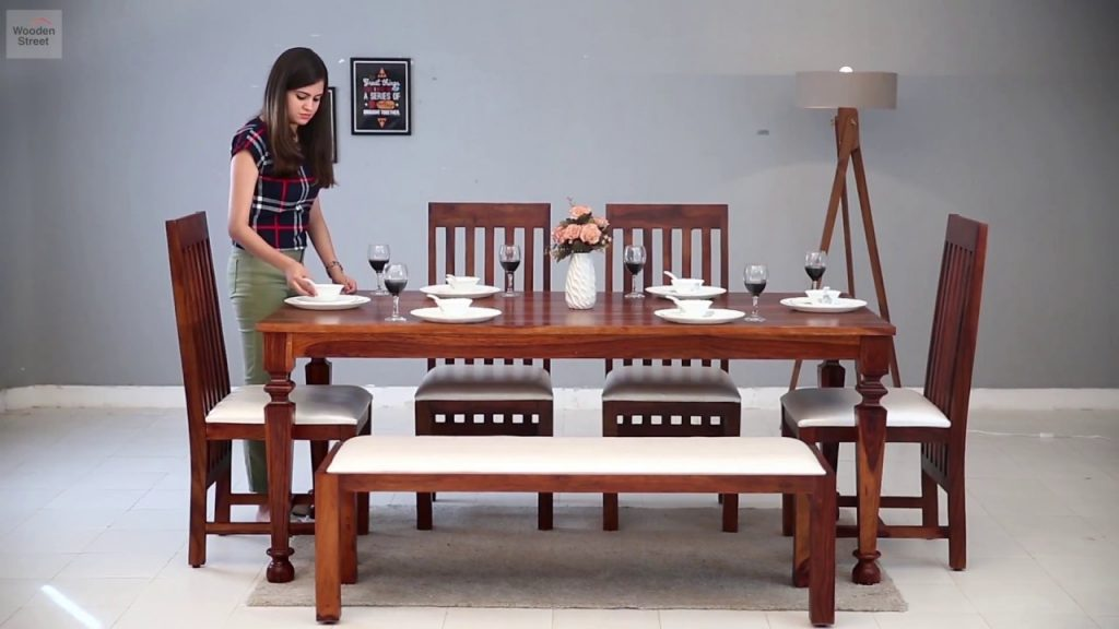 6 Seater Dining Table Set Buy Best 6 Seater Dining Set Online Wooden Street