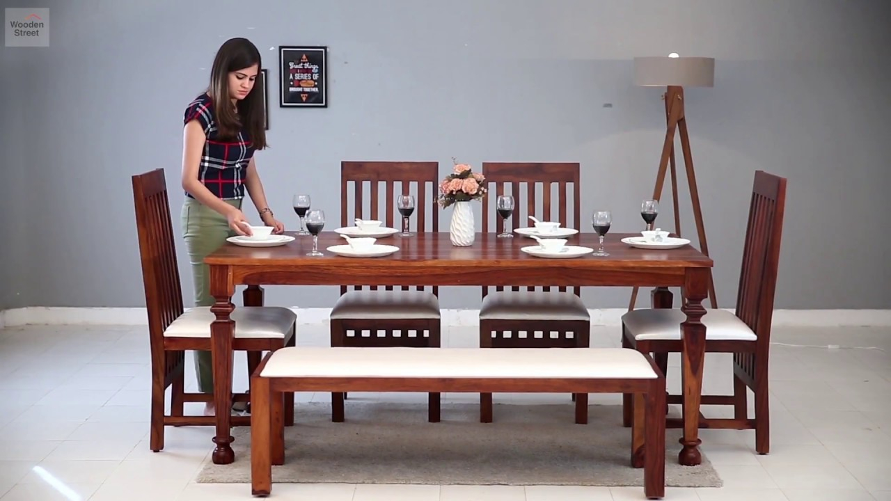 6 Seater Dining Table Set Buy Best 6 Seater Dining Set Online Wooden Street Layjao